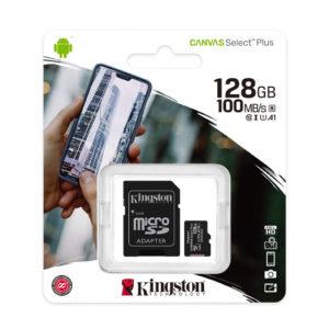 TARJETA MEMORIA MICRO SD KINGSTON 128GB 100MBS C10