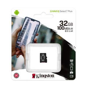 TARJETA MEMORIA MICRO SD KINGSTON 32GBGB 100MB SIN ADAPTADOR