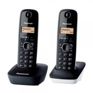 TELEFONO INALAMBRICO PANASONIC KX TG1612SP11 NEGRO BLANCO