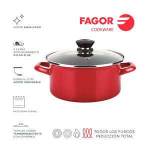 CACEROLA CON TAPA FAGOR OPTIMAX 26CM