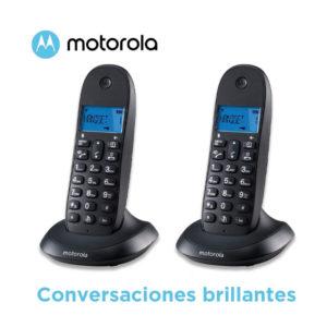 TELEFONO INALAMBRICO MOTOROLA C1002LB CON MANOS LIBRES DUO1